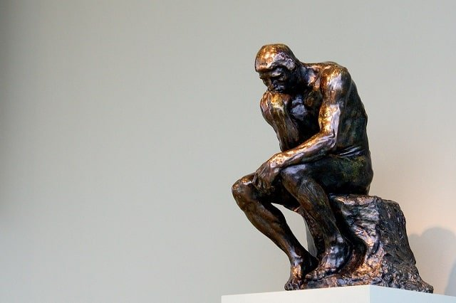 the thinker caught in decision-making