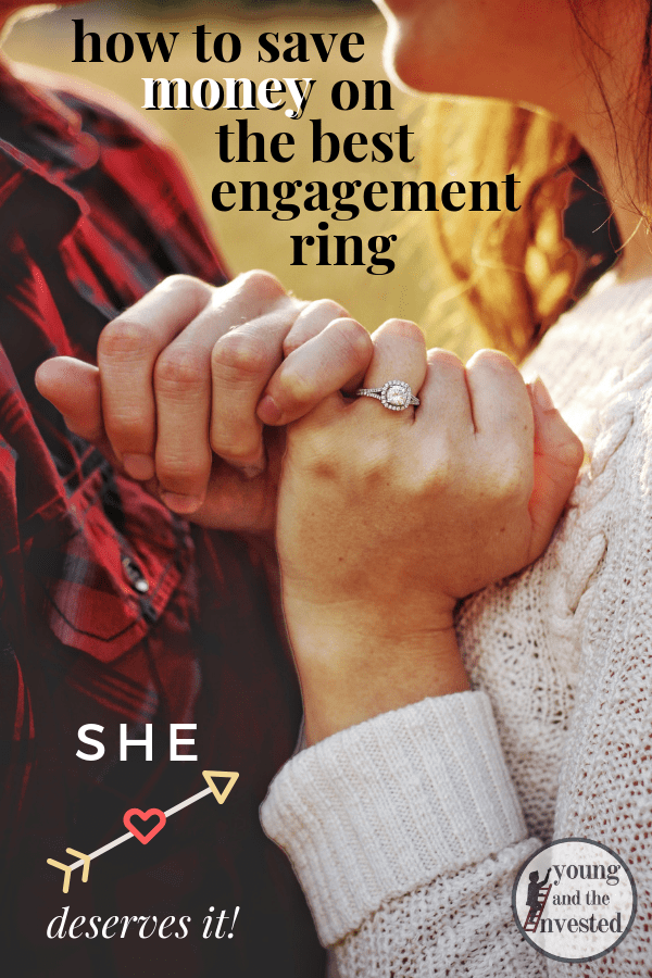 How to save money on the Best engagement ring Pinterest pin