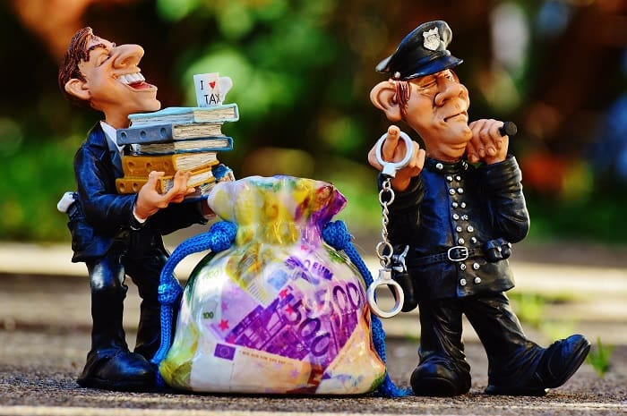 tax man police officer