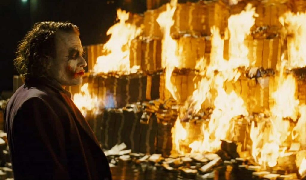 the joker on how to make a lot of money and fail financially