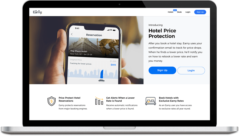 earny hotel price protection