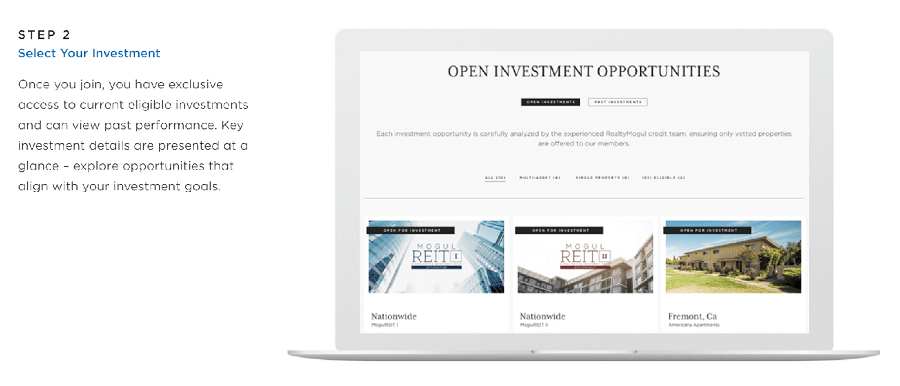 realtymogul investment options