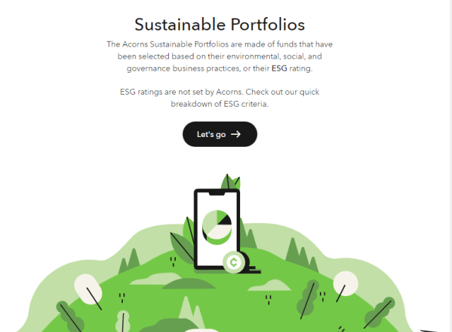 acorns sustainable portfolio