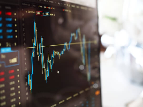 falling stock market graph