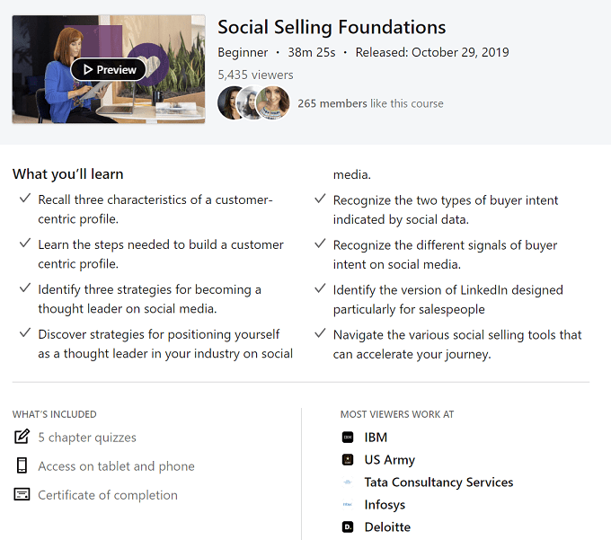 social selling foundations course