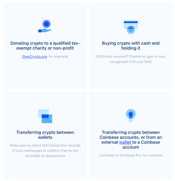 list of non-taxable events for cryptocurrency coinbase
