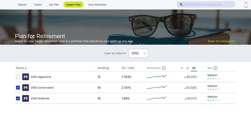 m1 finance target date portfolios