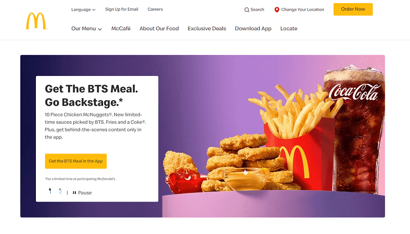 mcdonald's home page