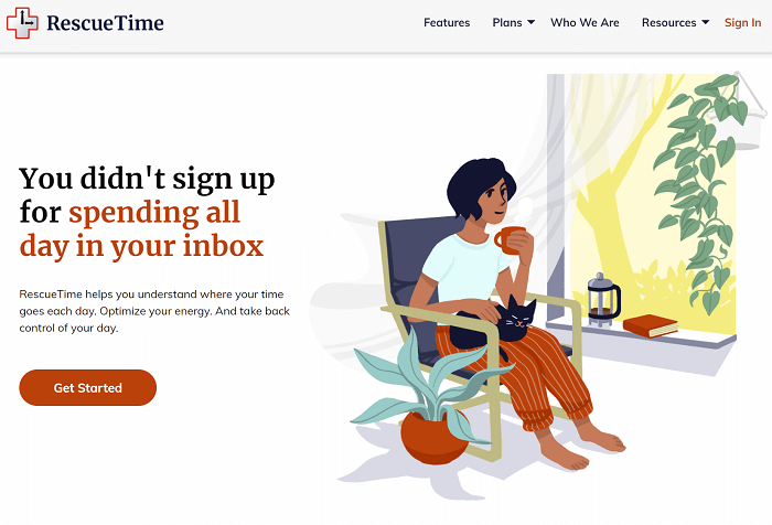 rescuetime sign up