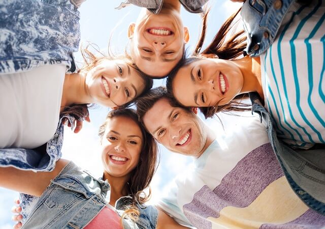 teenagers smiling medium