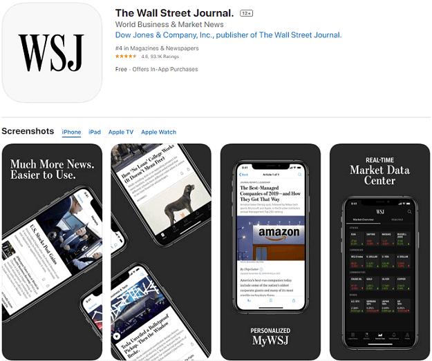wall street journal app